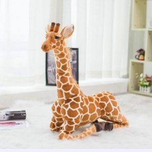 Peluche géante girafe
