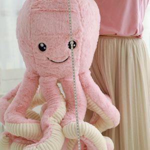 Peluche octopus rose