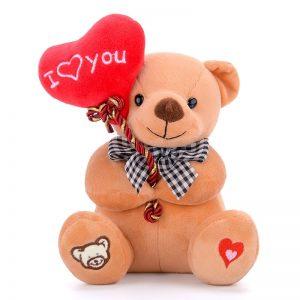 Ours en peluche avec un coeur