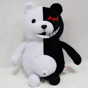 Ours en peluche noir et blanc
