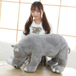 Peluche géante rhinocéros