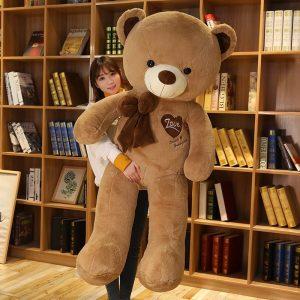 Peluche ours 100 cm pas cher