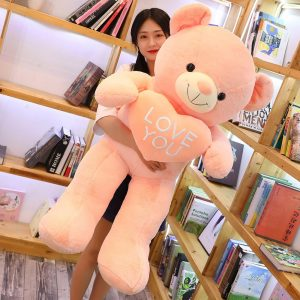 Peluche ours géant i love you