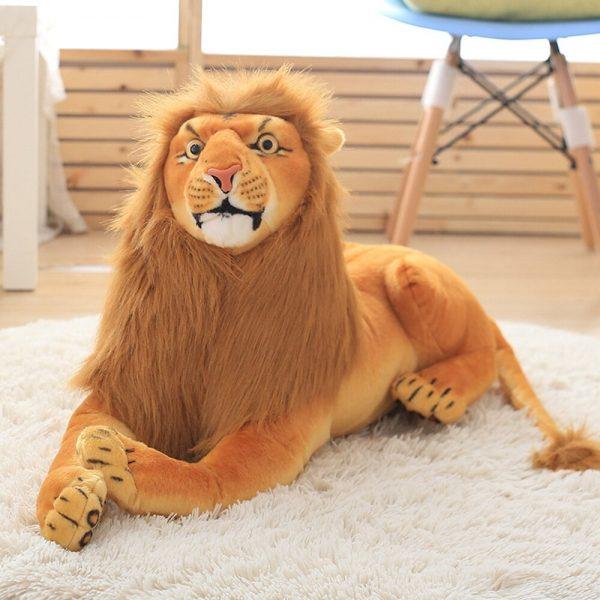 Peluche géante lion