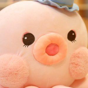Peluche poulpe chapeau rose