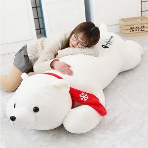 Peluche géante ours polaire