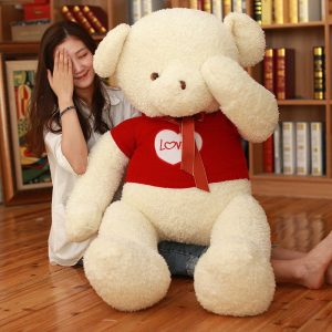 Ours en peluche blanc géant